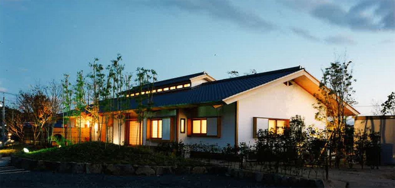 高松の家夜景