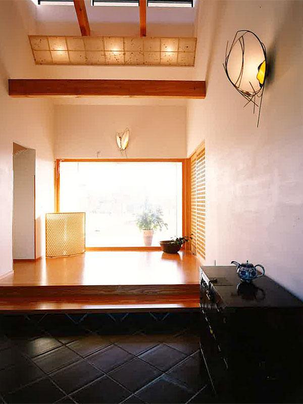 高松の家 エントランス